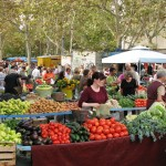 Farmer's market in Split Croatia